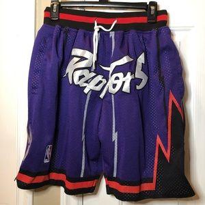 Men's NBA Raptors basketball shorts